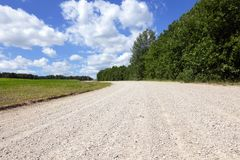 Проселочная дорога Sandy Стоковая Фотография RF