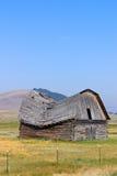 проседание крыши амбара старое Стоковое Изображение