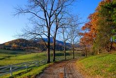 Проселочная дорога в Вирджинии Стоковая Фотография RF