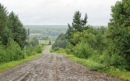 Проселочная дорога в деревне Стоковое Изображение
