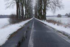 Проселочная дорога в зиме Стоковая Фотография RF