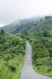 Проселочная дорога в северном Таиланде Стоковые Изображения RF