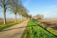 Проселочная дорога в сельском сезоне ландшафта осенью Стоковое фото RF