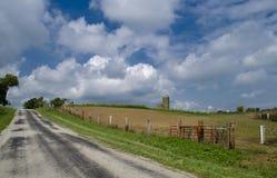 Проселочная дорога лета Стоковые Фото