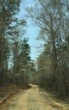 Проселочная дорога и ясные небеса Стоковое Изображение RF