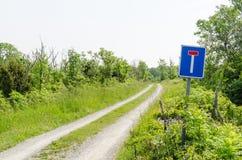 Проселочная дорога мертвого конца Стоковые Фотографии RF