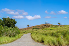 Проселочная дорога на Rizal стоковое фото rf