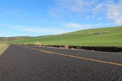 проселочная дорога прямо Стоковое фото RF
