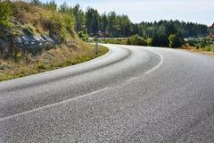 Проселочная дорога с предупредительными знаками Стоковые Фотографии RF