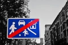 просигнализируйте улицу Стоковое Фото