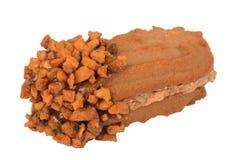 Прослоите печенья, овальное форменное заполненное с сливк шоколада Стоковая Фотография RF