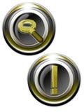 просматривайте золотистое iconset Стоковое Фото