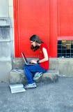 Просматривающ и ищущ сеть Стоковые Изображения RF