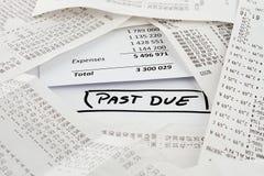 Просроченные счеты, который нужно оплатить Стоковые Фотографии RF