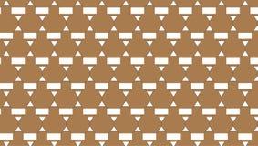 Простая абстрактная коричневая картина треугольника иллюстрация вектора