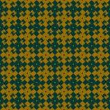 Простая безшовная картина Ретро, проверенный, цветки Стоковое Изображение RF
