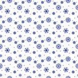 Простая безшовная картина с снежинками Стоковые Изображения RF