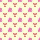 Простая безшовная картина с цветками и сердцами Романтичная флористическая иллюстрация вектора иллюстрация вектора