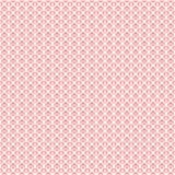 Простая безшовная текстура сетки шнурка Белая решетка на розовой предпосылке Стоковое Изображение
