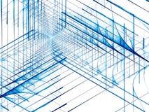 Простая белая голубая предпосылка - конспект цифров произвел imag иллюстрация вектора