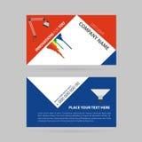 Простая визитная карточка - фара СИД Стоковое фото RF