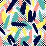 Простая геометрическая абстрактная текстура с пятнами Иллюстрация штока