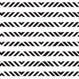 Простая геометрическая черно-белая безшовная печать вектора иллюстрация вектора