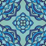 Простая голубая картина мандал иллюстрация вектора