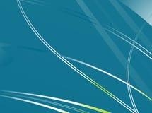 Простая голубого предпосылка фрактали зеленого цвета/teal походя лезвия травы Стоковые Фотографии RF