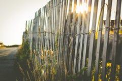 Простая деревянная загородка на пляжном домике Стоковые Фотографии RF