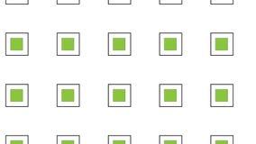 Простая зеленая квадратная картина иллюстрация вектора