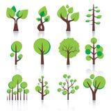 Простая икона дерева Стоковое Изображение RF