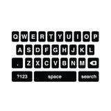 Простая и абстрактная клавиатура smartphone Стоковая Фотография RF