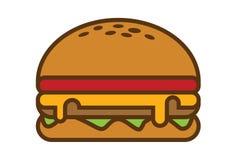 Простая иллюстрация гамбургера Стоковая Фотография RF