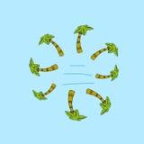 Простая иллюстрация пальм Стоковая Фотография RF