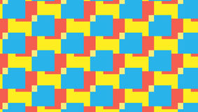 Простая красная и cyan картина блока бесплатная иллюстрация