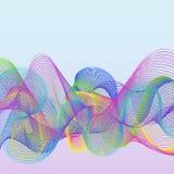 Простая красочная абстрактная предпосылка с линиями Wawe иллюстрация вектора
