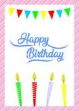 Простая поздравительая открытка ко дню рождения, c днем рожденья бесплатная иллюстрация