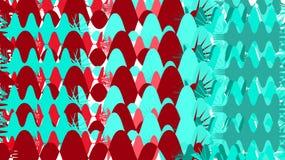 Простая предпосылка от minimalistic пестрых волшебных красных и голубых конспектов различных хаотических ярких кругов линий волн  Иллюстрация вектора