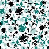 Простая предпосылка с абстрактными формами Вычерченная бесконечная текстура на белой предпосылке для того чтобы украсить ткани, п иллюстрация штока