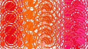 Простая предпосылка, текстура minimalistic красных конспектов различных круговых ярких линий, круги, овалы и геометрические формы Бесплатная Иллюстрация