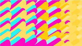 Простая предпосылка minimalistic variegated волшебных пестротканых конспектов различной стойки приказала яркие овалы, трубки, sph Бесплатная Иллюстрация