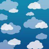 Простая предпосылка вектора шаржа облака бесплатная иллюстрация