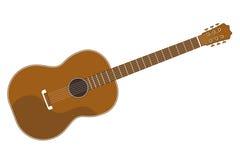 Простая плоская гитара Стоковые Изображения RF