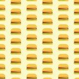 Простая плоская картина гамбургера Стоковые Фотографии RF
