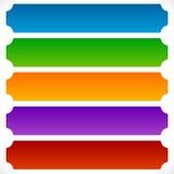 Простая, плоская прямоугольная кнопка, предпосылка знамени с c иллюстрация вектора