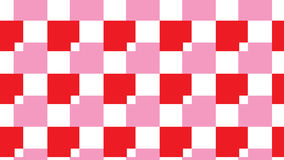 Простая розовая и красная картина блока бесплатная иллюстрация
