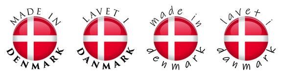 Простая сделанная в Дании/Lavet в переводе 3 Danmark датском иллюстрация вектора