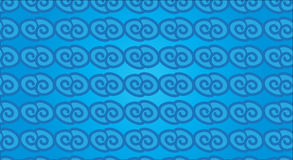 Простая современная абстрактная гаваиская горизонтальная голубая картина волны иллюстрация штока