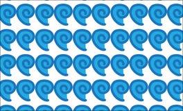 Простая современная абстрактная гаваиская голубая картина прилива бесплатная иллюстрация
